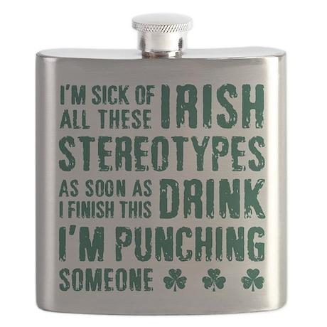 Irish Stereotypes Flask