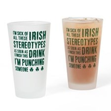 Irish Stereotypes Drinking Glass