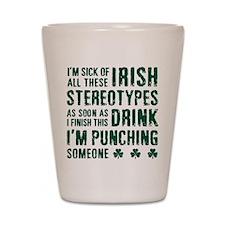 Irish Stereotypes Shot Glass