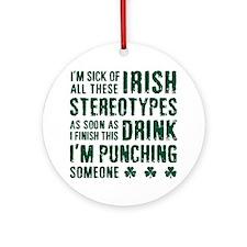 Irish Stereotypes Ornament (Round)