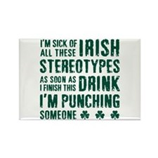 Irish Stereotypes Rectangle Magnet