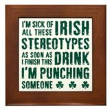 Funny st patricks day Framed Tiles