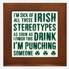 Irish Stereotypes Framed Tile