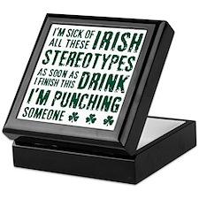 Irish Stereotypes Keepsake Box