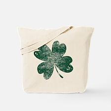 Vintage Lucky Shamrock Tote Bag
