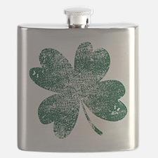 Vintage Lucky Shamrock Flask