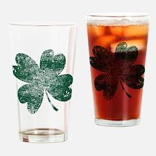 Vintage Lucky Shamrock Drinking Glass