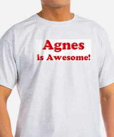 Agnes is Awesome Ash Grey T-Shirt