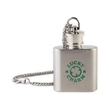 Vintage Lucky Charm Flask Necklace