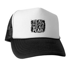 Real Men Lung Cancer Trucker Hat