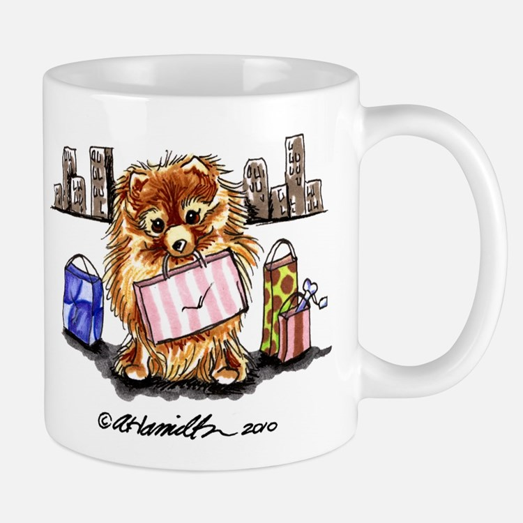 City Pomeranian Mug