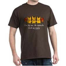 One by one, the squirrels T-Shirt