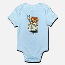 Baby Pomeranian Plaid Infant Bodysuit