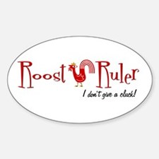 Rooster Oval Decal