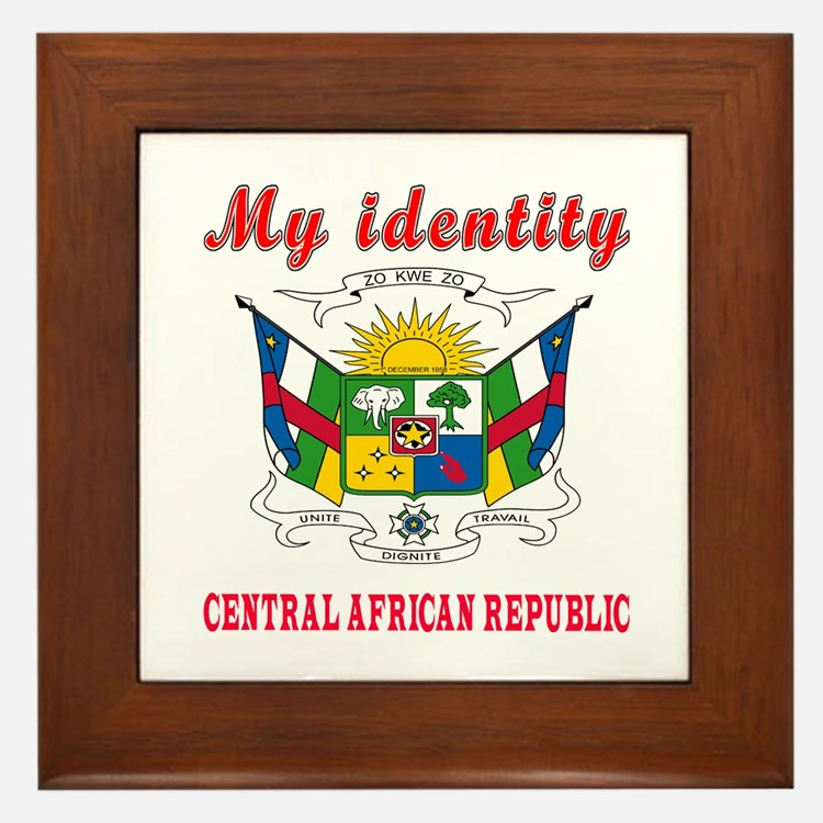 My Identity Central African Republic Framed Tile