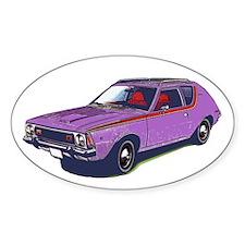 Purple Gremlin Oval Decal