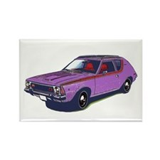 Purple Gremlin Rectangle Magnet