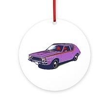 Purple Gremlin Ornament (Round)