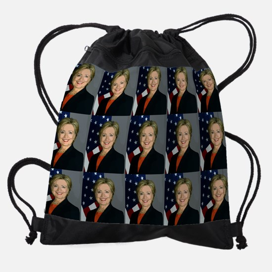 hillary clinton Drawstring Bag