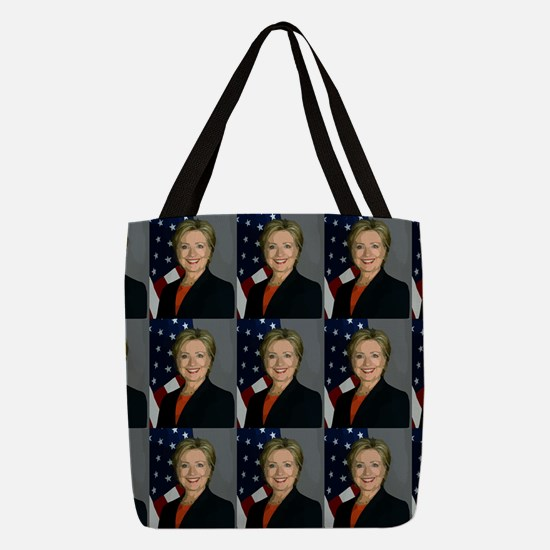 hillary clinton Polyester Tote Bag