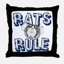 Rats Rule Throw Pillow