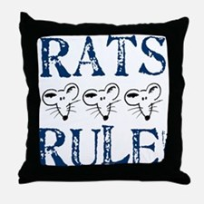 Rats Rule Trio Throw Pillow