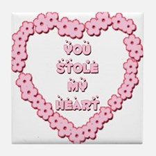 You Stole My Heart Tile Coaster