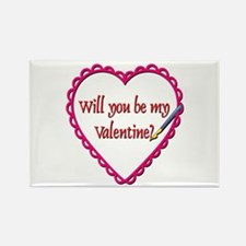 Will You Be My Valentine? Rectangle Magnet (10 pac