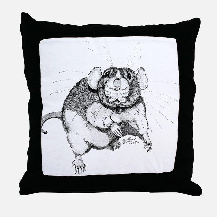 Dumbo Rat Throw Pillow