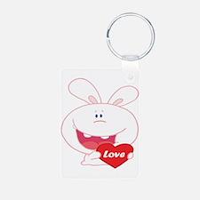 White Love Bunny Keychains