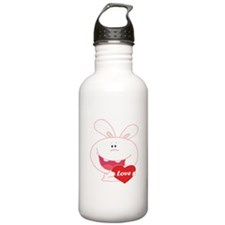 White Love Bunny Water Bottle