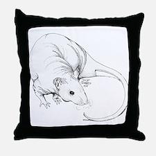 Hairless Rat Throw Pillow