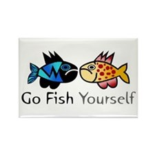 Go Fish Yourself Rectangle Magnet