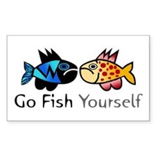 Go Fish Yourself Rectangle Decal