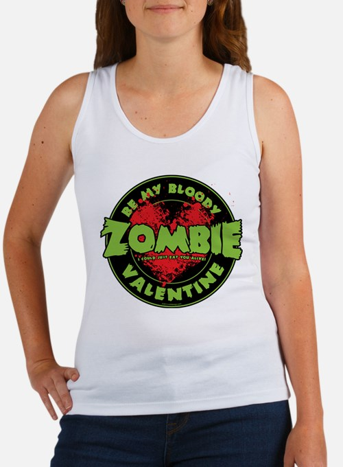 Be My Bloody Zombie Valentine! Tank Top