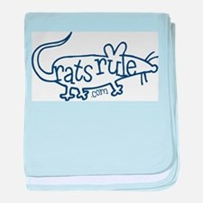 Rat Outline baby blanket