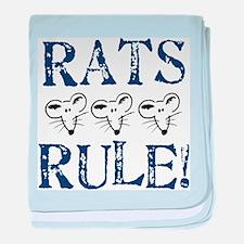 Rats Rule Trio baby blanket