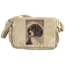 Springer spaniel waiting for a walk Messenger Bag