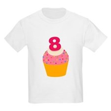 8th Birthday Cupcake T-Shirt