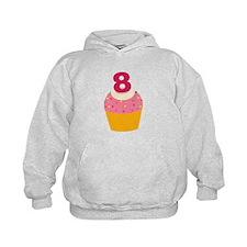 8th Birthday Cupcake Hoodie