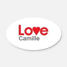 I Love Camille Oval Car Magnet