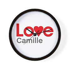 I Love Camille Wall Clock