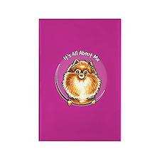 Orange Pomeranian IAAM Rectangle Magnet