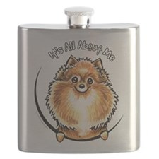 Orange Pomeranian IAAM Flask
