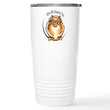 Orange Pomeranian IAAM Travel Coffee Mug