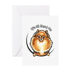 Orange Pomeranian IAAM Greeting Card