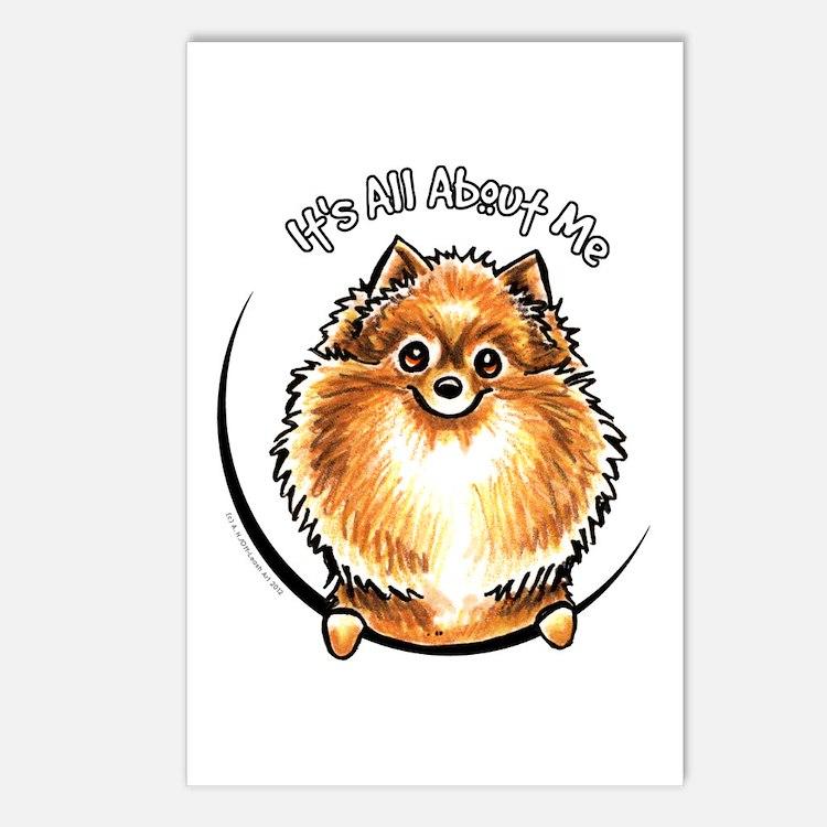 Orange Pomeranian IAAM Postcards (Package of 8)