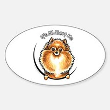 Orange Pomeranian IAAM Sticker (Oval)