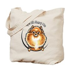 Orange Pomeranian IAAM Tote Bag