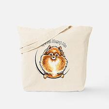 Orange Pomeranian IAAM Tote Bag